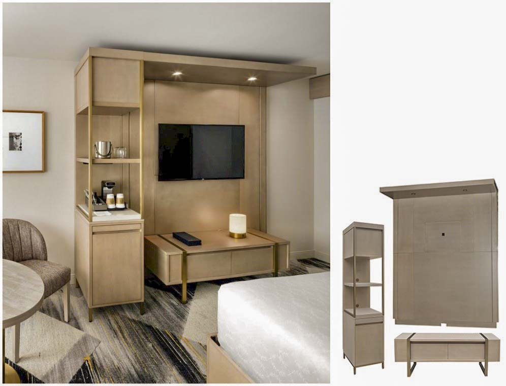 Hotel bedroom furniture in contemporary style 1